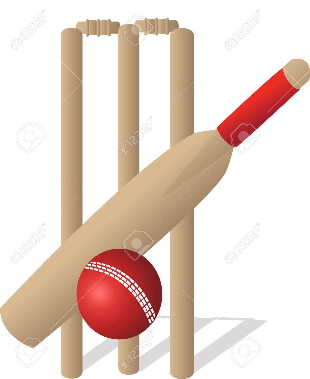 And ball a cricket. Bat clipart boll