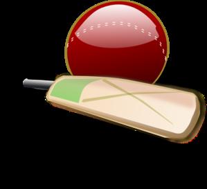 Bat clipart boll. Cricket and ball clip