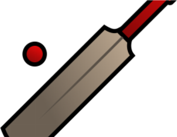 And ball cricket icon. Bat clipart boll