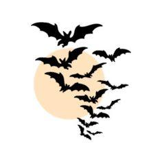 Bats over moon liked. Bat clipart border
