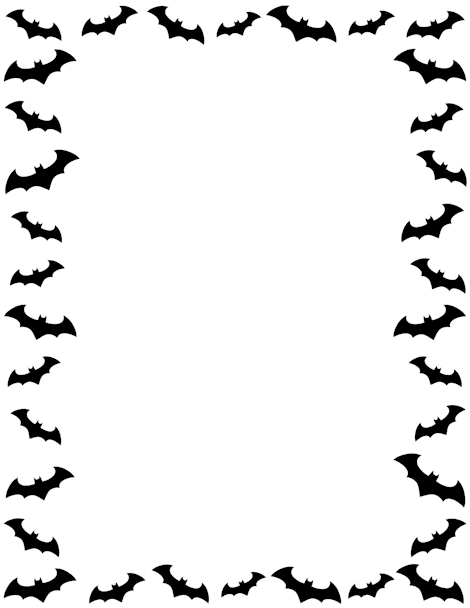Pin by muse printables. Bats clipart border