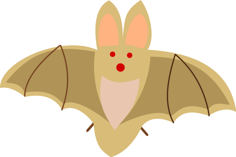 Flying clipart animated. Brown bat panda free