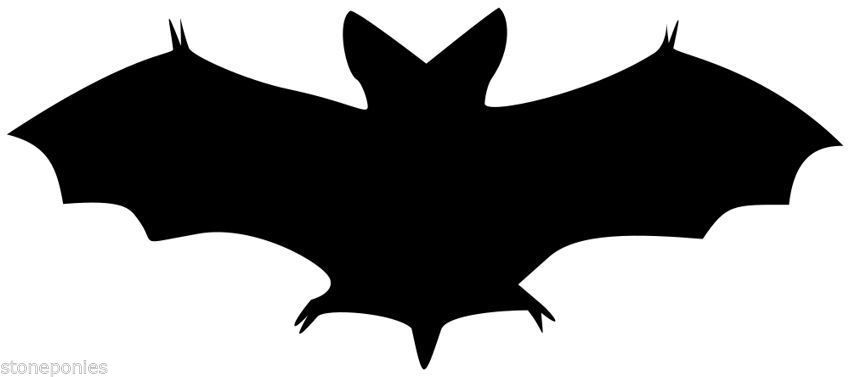 Halloween silhouette window decal. Bat clipart clear background