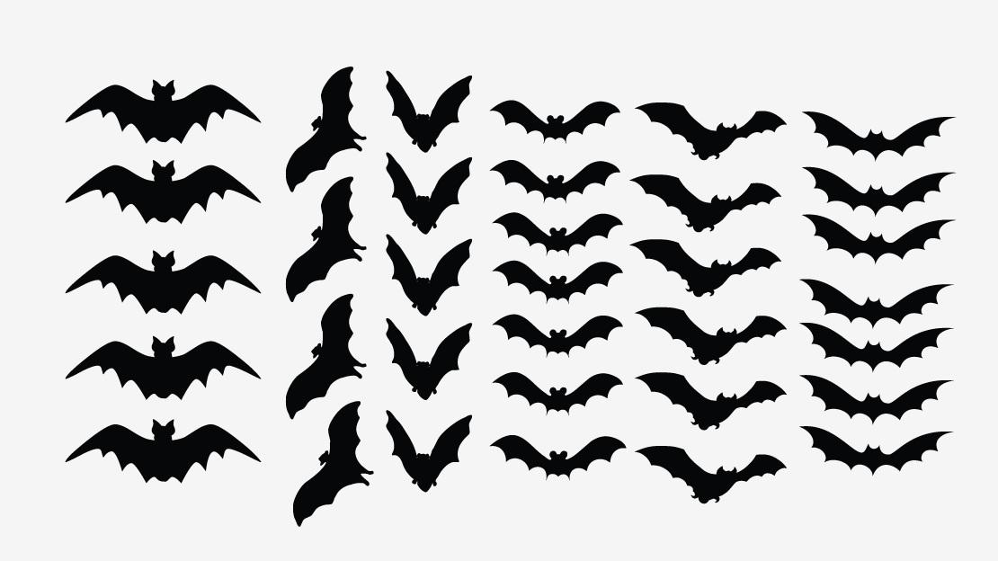 Silhouette of at getdrawings. Bat clipart creepy