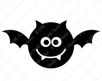 Halloween svg monogram cricut. Bat clipart cute