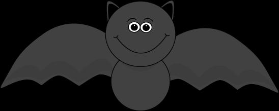 Halloween . Bat clipart cute