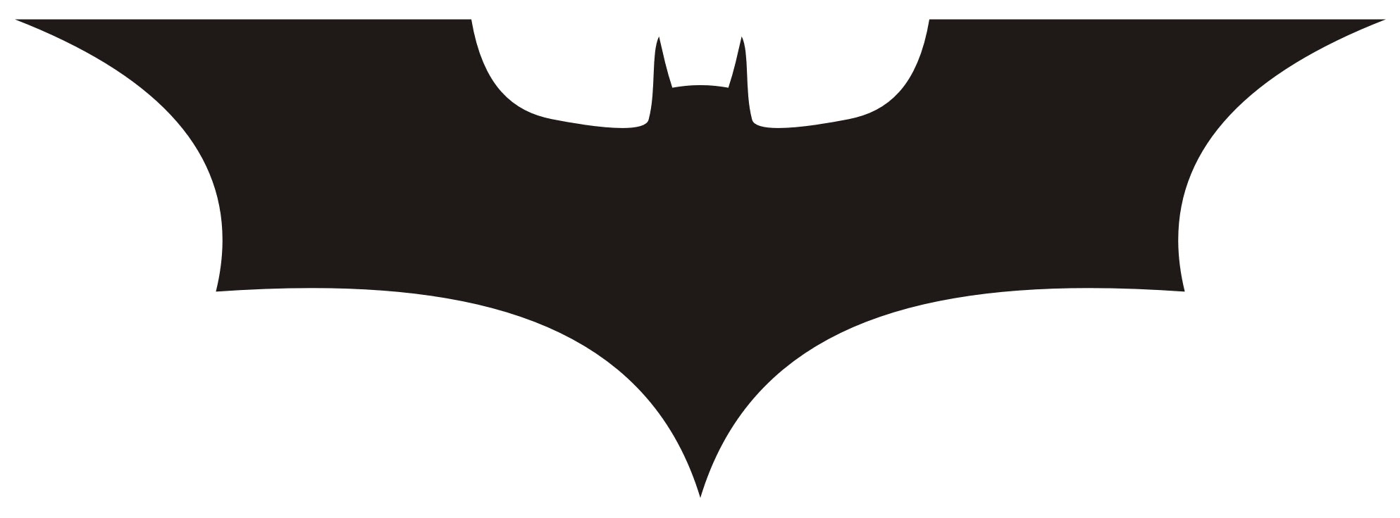Batman clipart simple. How to draw logo