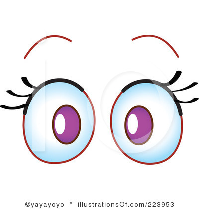 collection of eyes. Bat clipart eye