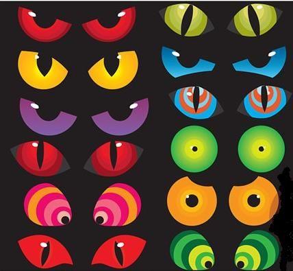 Bat clipart eye. Spooky eyes creature monster