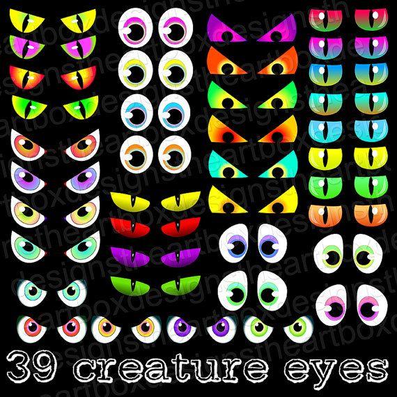 Eyeballs clipart spooky. Eyes creature monster cat