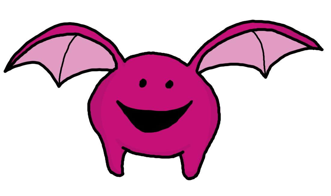 Clipart free monster. With bat wings panda