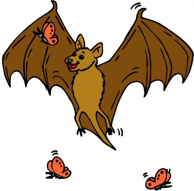 Bats clipart friendly. La chauve souris et