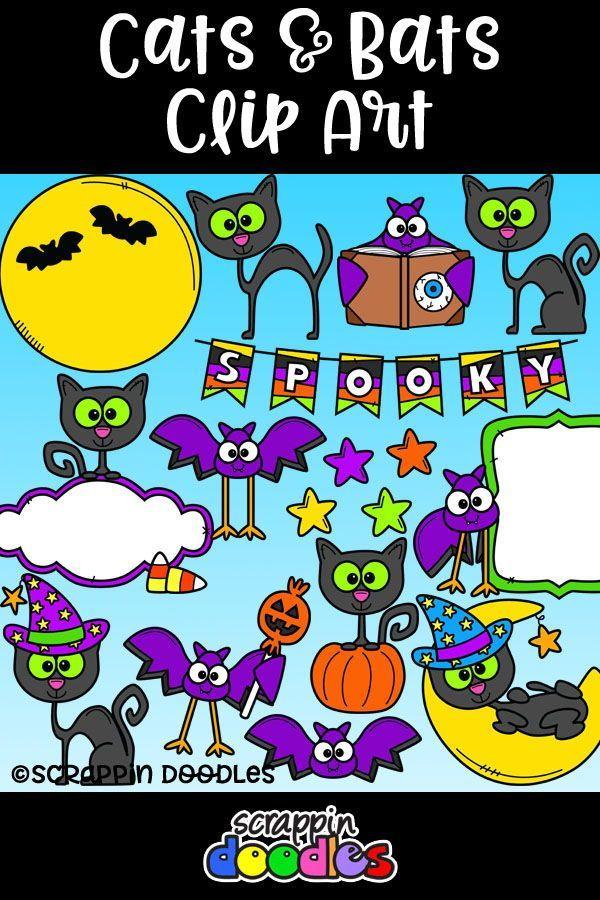 Cats scrappin doodles . Bats clipart friendly