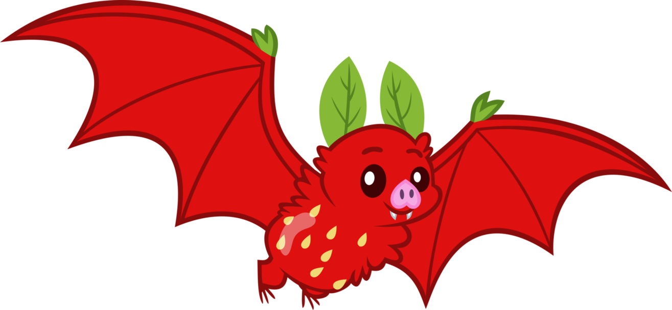 Strawberry by erccre on. Bat clipart fruit bat