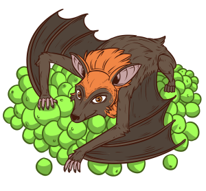 Bat clipart fruit bat. Fruitbats tv interactive live