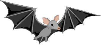 Bat clipart fruit bat. Illustrating children s books