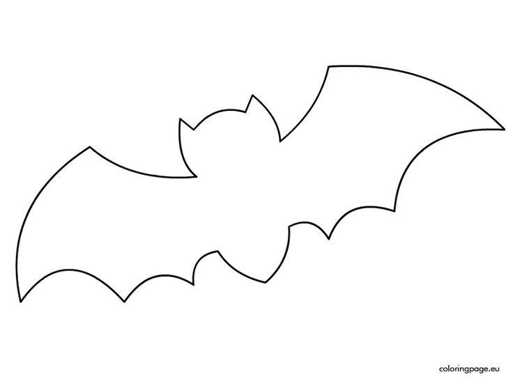Template incep imagine ex. Bat clipart printable