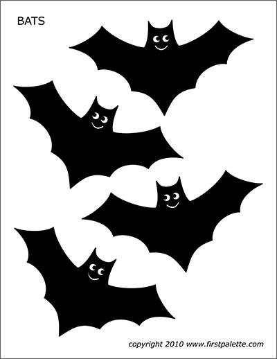 Bats free templates coloring. Bat clipart printable