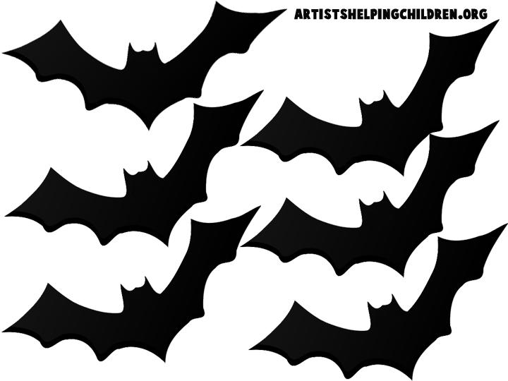 Halloween cutout decorations decoration. Bat clipart printable