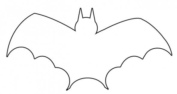 Pictures of bats stencil. Bat clipart printable