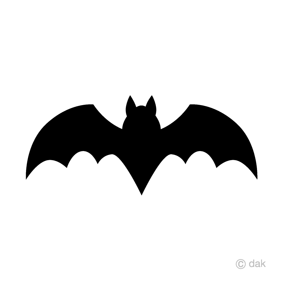 Bat free picture illustoon. Bats clipart silhouette