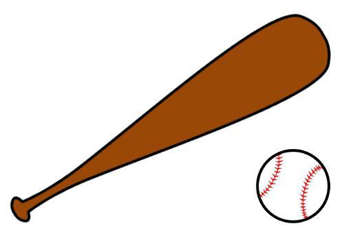 Bat clipart softball.