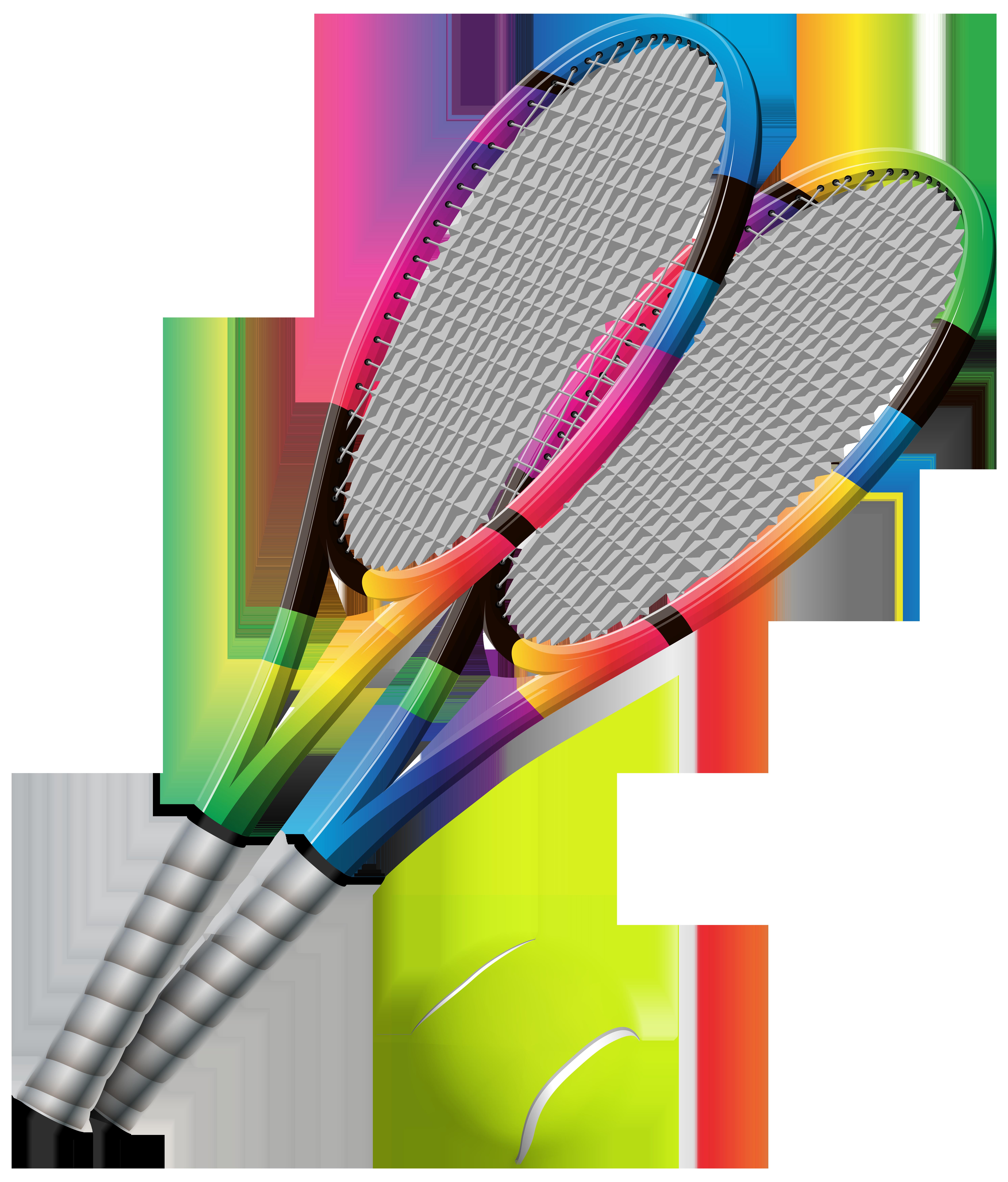 Bat clipart sport. Tennis rackets and ball