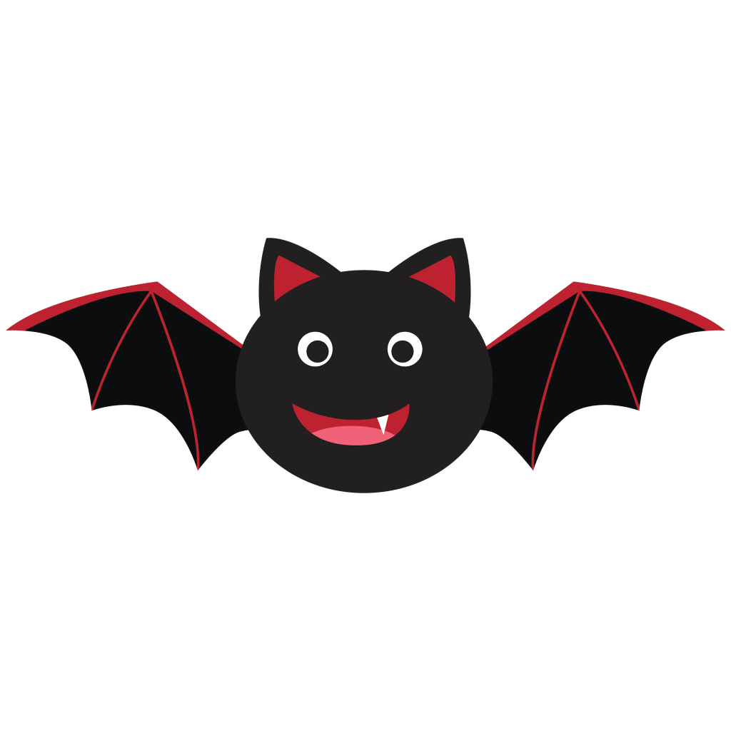 October clipart cute.  collection of bat