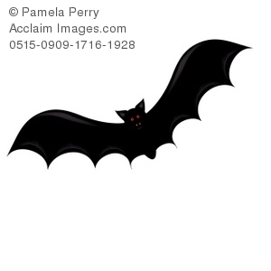 Dracula clipart bat. Clip art illustration of