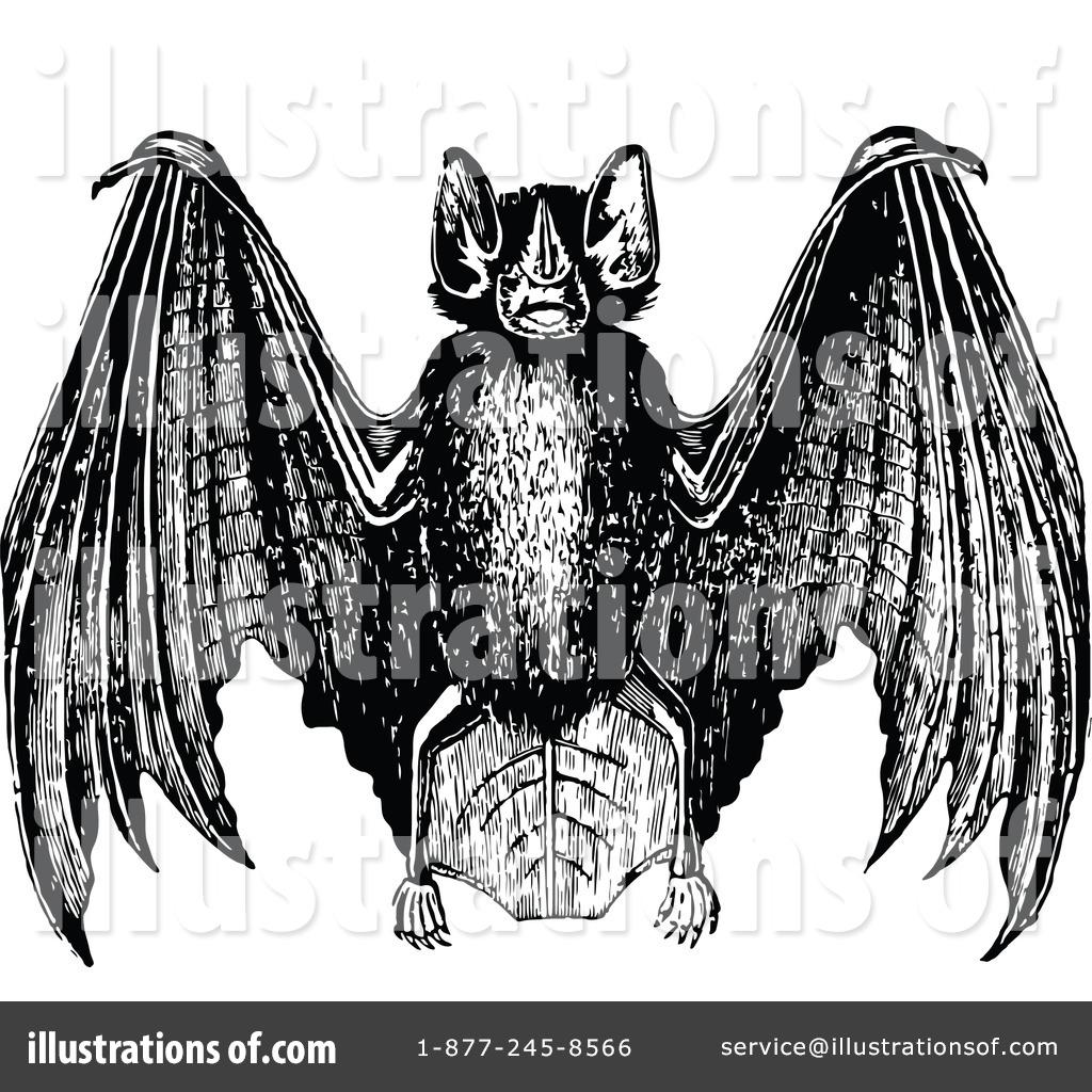 Bat clipart vintage. Flying illustration by prawny