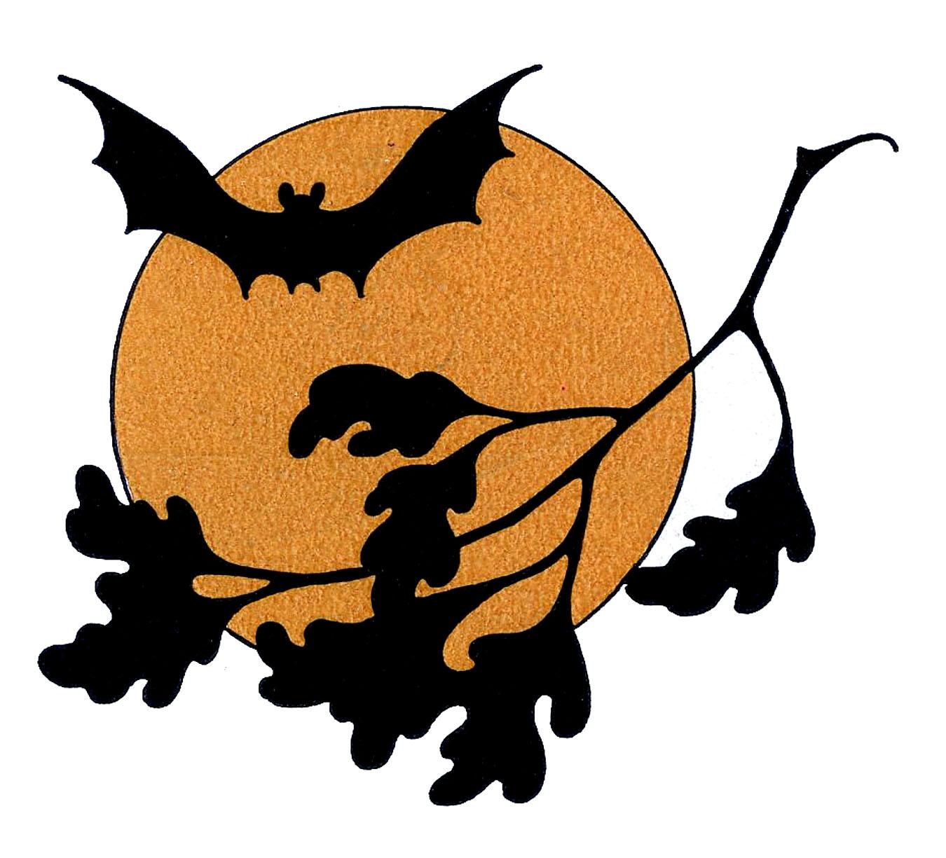 Halloween clip art with. Bat clipart vintage