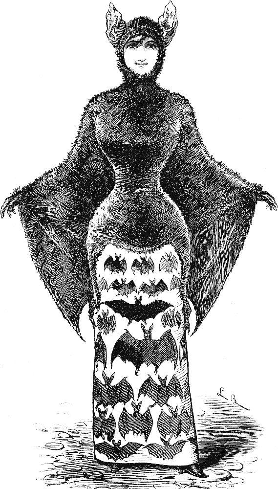 Bat clipart vintage. Free clip art victorian