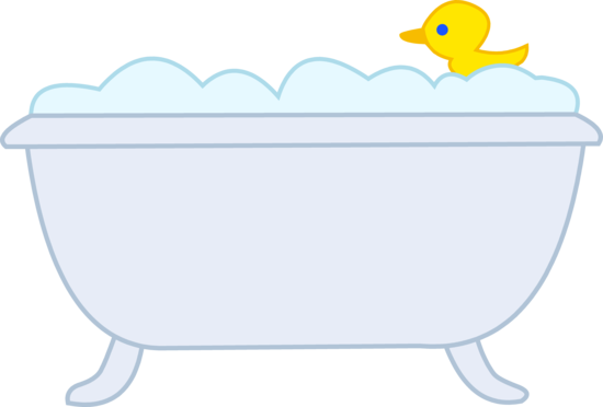 With rubber ducky kid. Tub clipart bubble bath