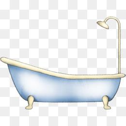 Cartoon bathtub png vectors. Bath clipart animated