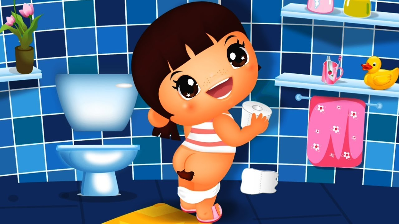 Fun care learn colors. Bath clipart baby girl