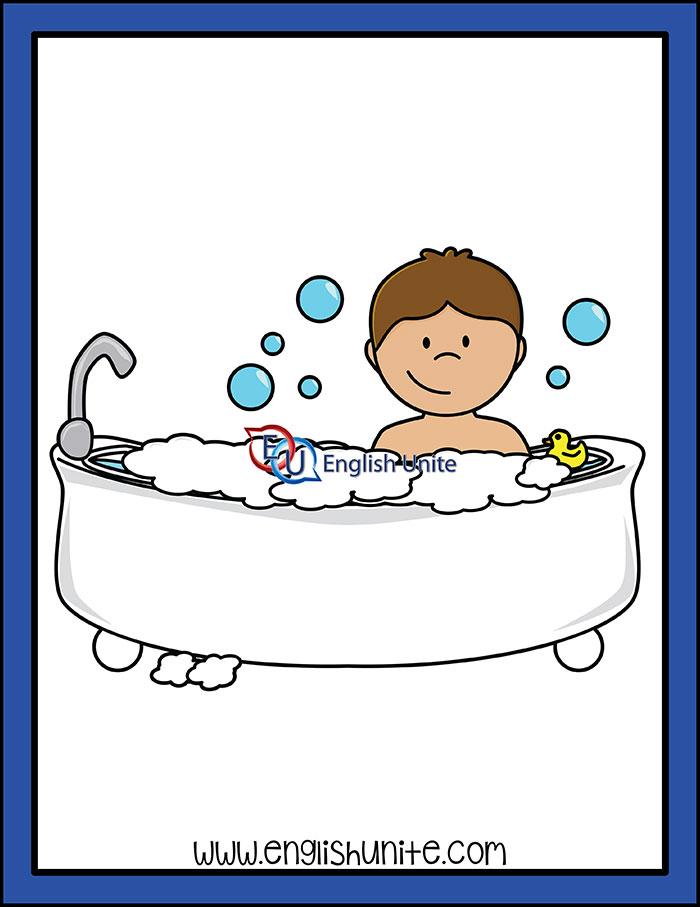 Routine take a english. Bath clipart bath daily