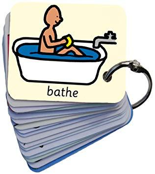Picture exchange communication keyring. Bath clipart bath daily
