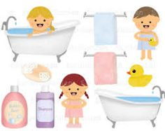 Commercial use vector graphic. Bath clipart bath time