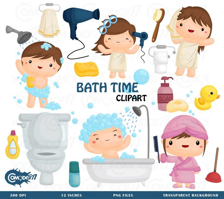 Bath clipart bath time. Commercial use vector graphic