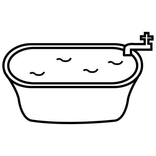 Bathtub add tissue paper. Bath clipart bath water