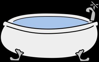 Bathtub with clip art. Bath clipart bath water