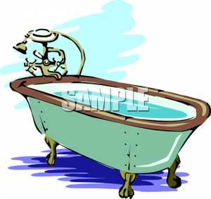 Picture a bathtub full. Bath clipart bath water