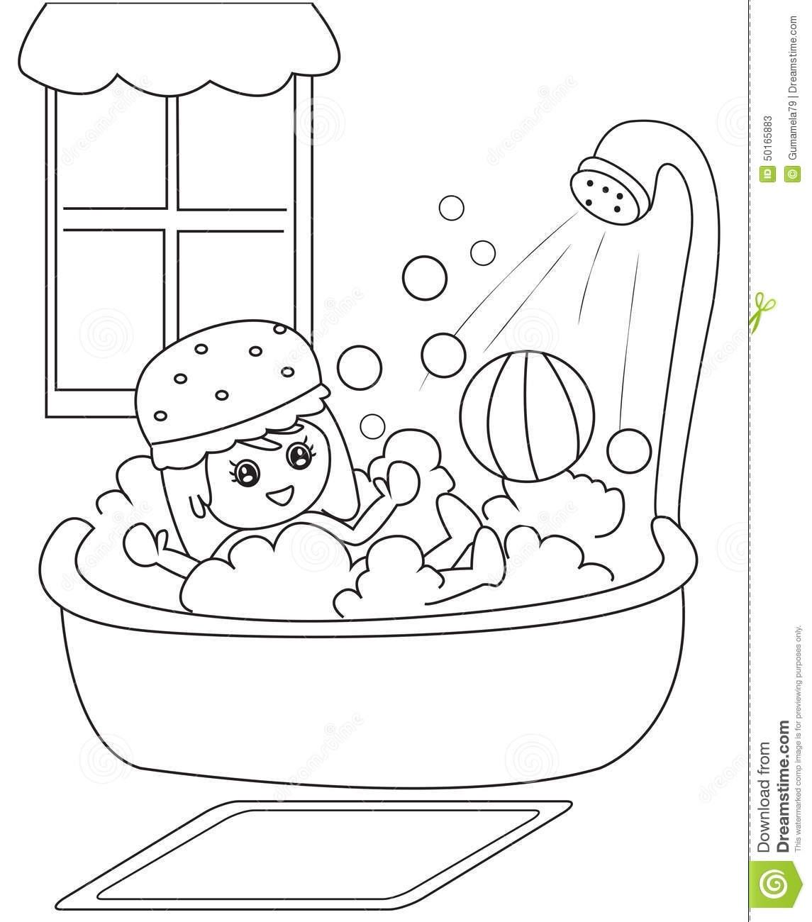 Black and white clip. Bath clipart bathroom