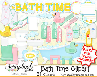 Bath clipart bathtub. Etsy time png files