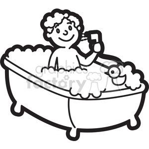 Bath clipart black and white. Letters format royaltyfree boy