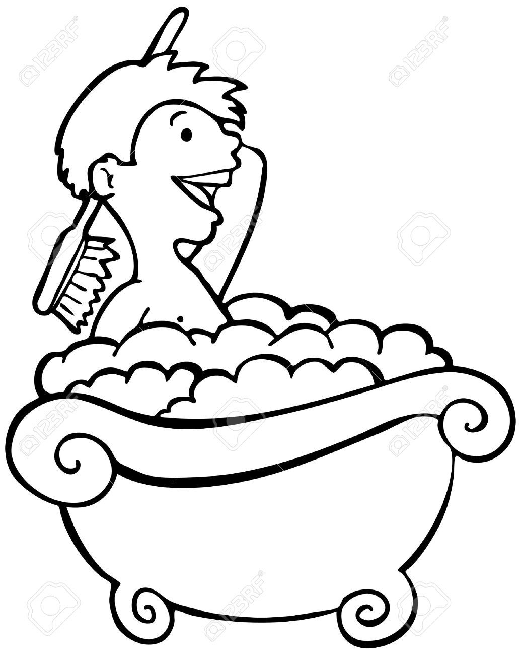 Taking a station . Bath clipart black and white