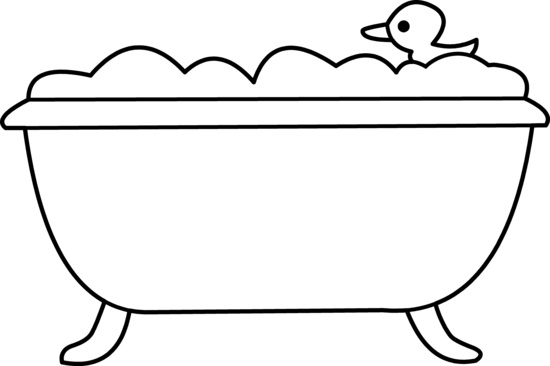 Bathtub clipart black and white. Best of bath letter