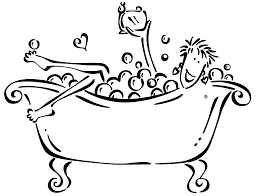 Image result for bathing. Bath clipart black and white