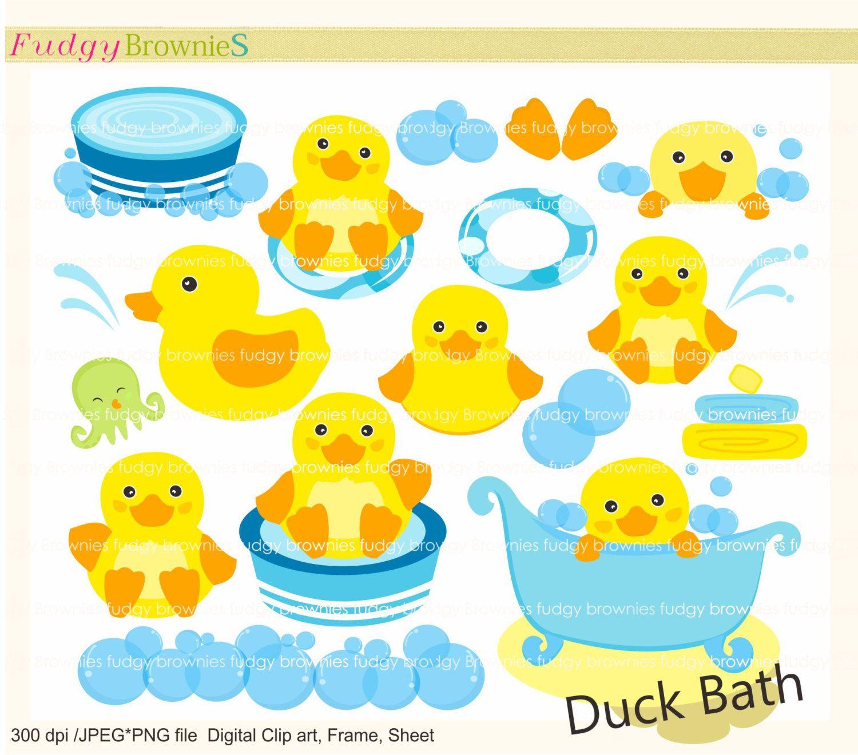 Baby clipart scrapbook. Cute duck clip art