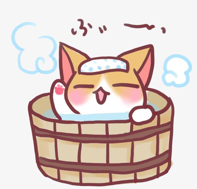 Kitten cartoon png image. Bath clipart cat